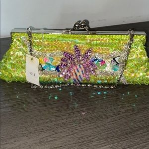 Small Beaded Clutch Bag